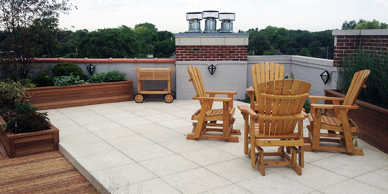 Green Roof Solutions smooth and durable pavers to incorporate into your patio design.